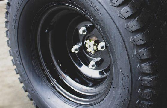 22 inch tire on SG46 machine