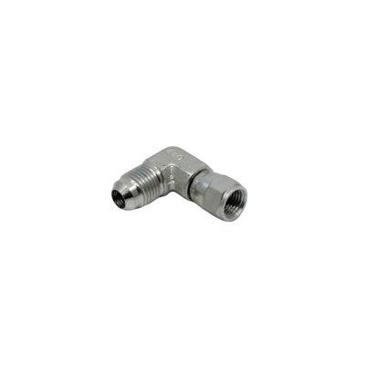 3/8 Male JIC x 1/4 Female JIC Swivel 90° - Swivel Nut Elbow - Steel