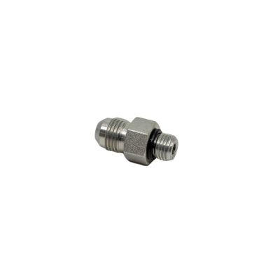 3/8 Male JIC x 1/4 Male O-Ring Boss - Straight Thread Connector - Steel