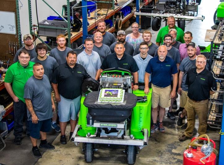 Steel Green Manufacturing team Celebrates Business Anniversary