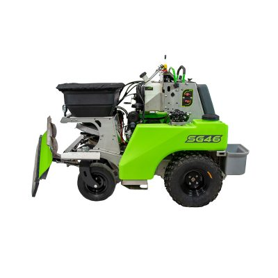 steel green snowplow