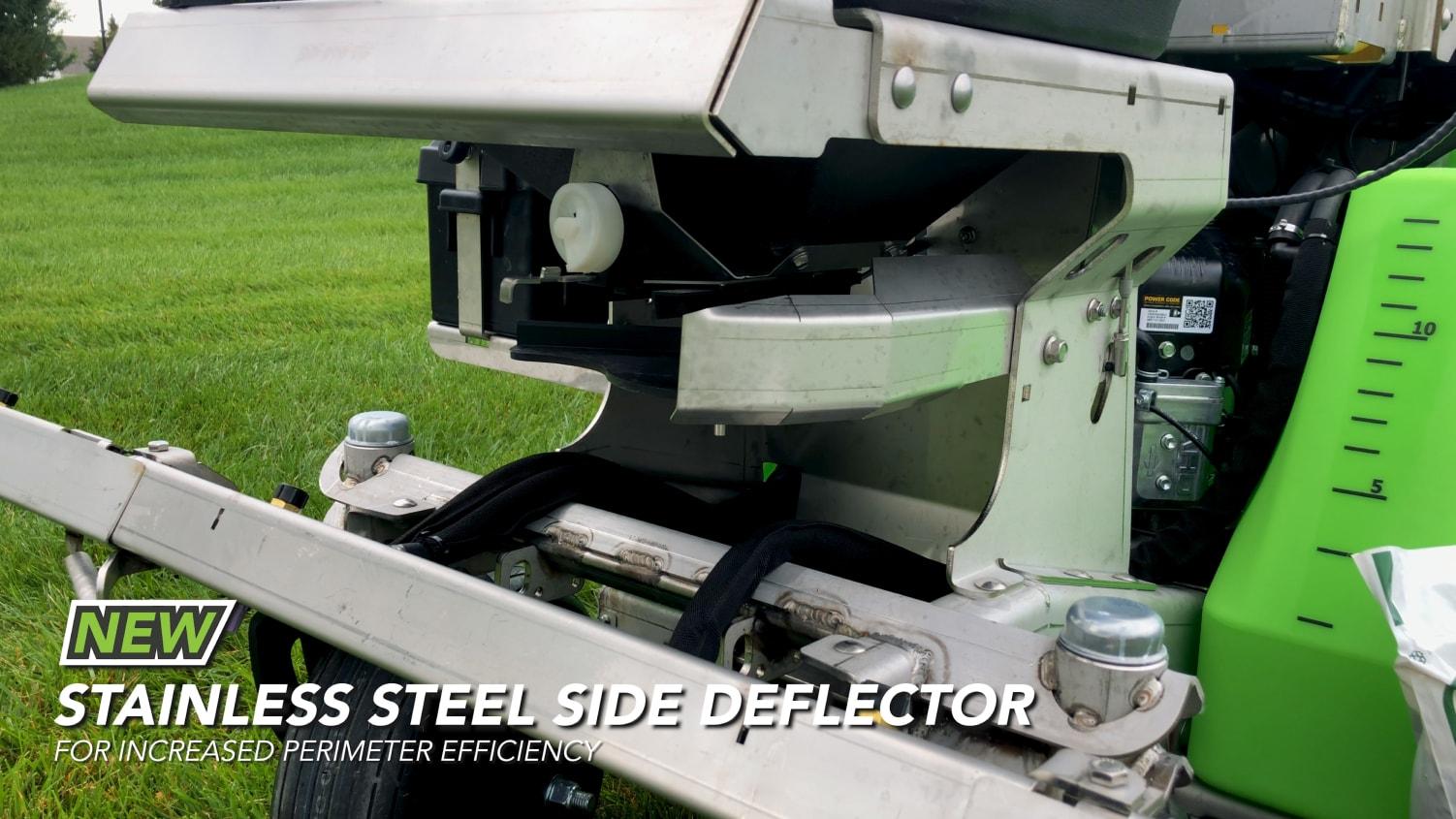 side deflector on steel green equipment