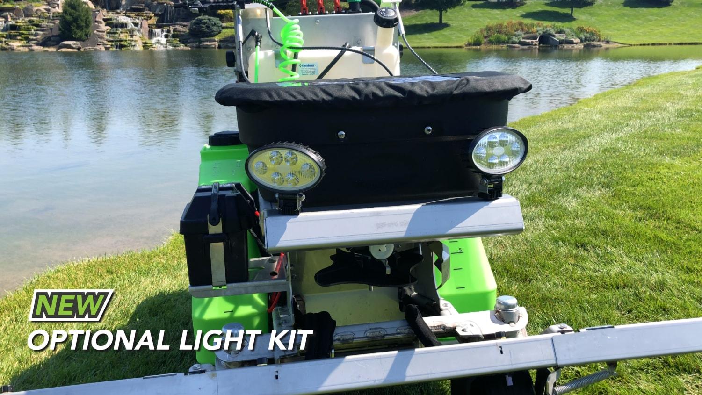 optional light kit on steel green equipment