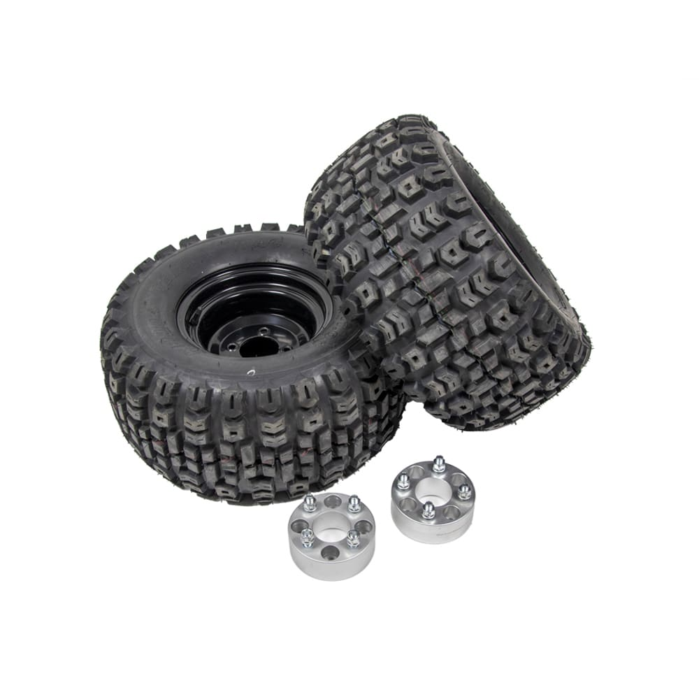isolated image of winter tire kit for snowplow