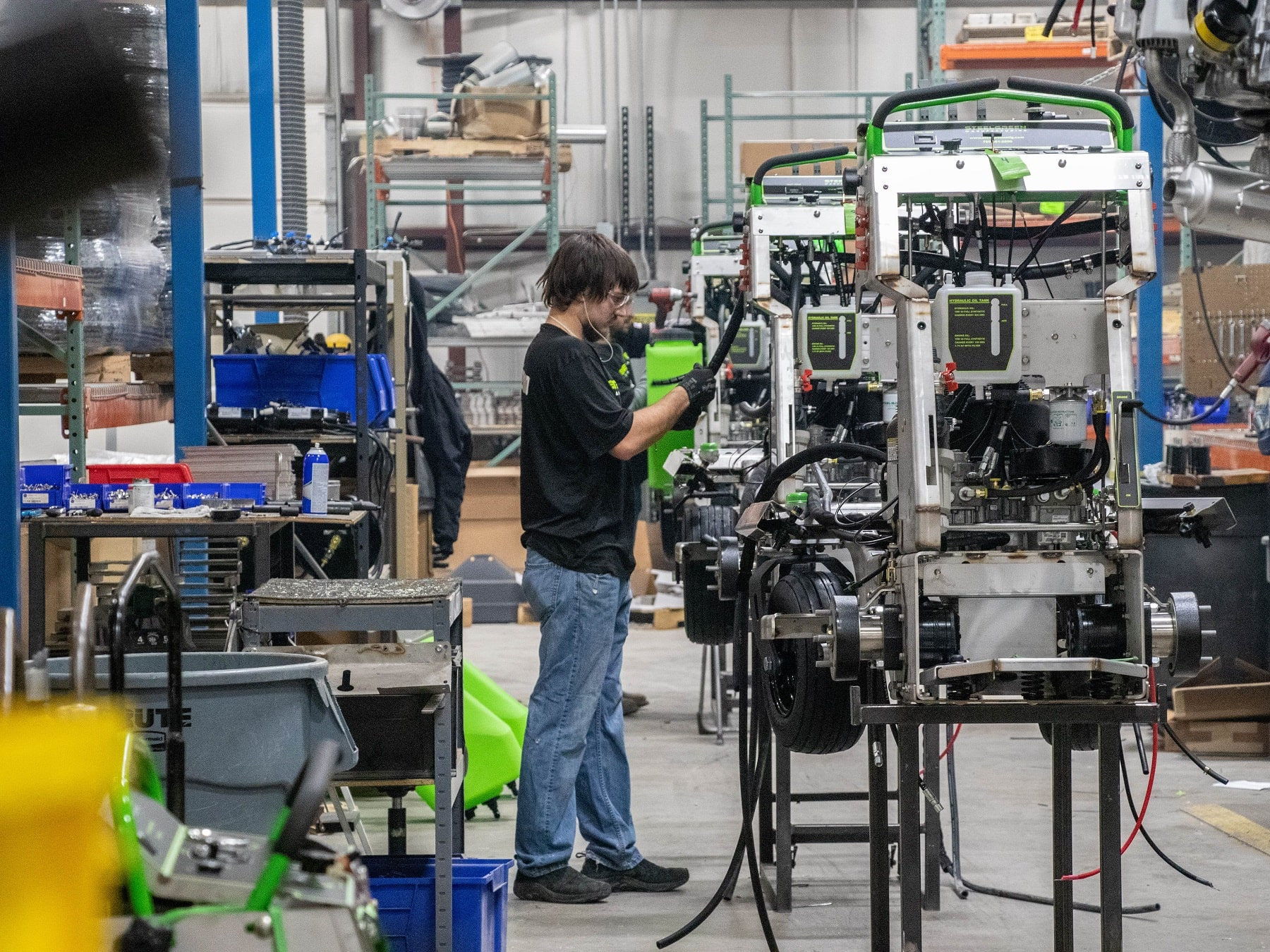 steel green manufacturing facility assembly line