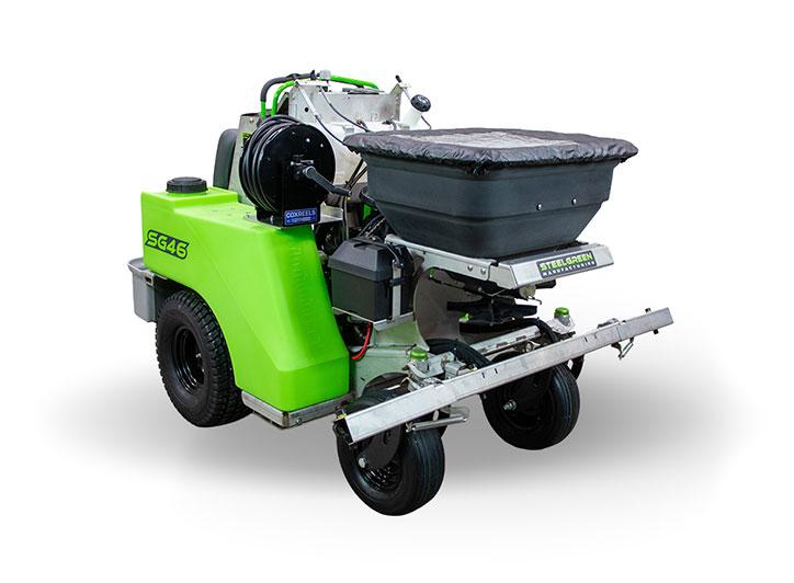 steel green SG4G zero-turn spreader/sprayer