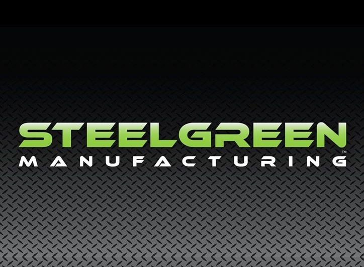 steel green manufacturing logo